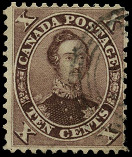 CANADA 1859  SG34 Used 10c purple Prince Albert