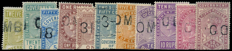 CEYLON 1881  SGT10/11, 13/21 Telegraph