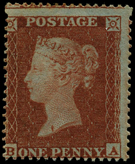 GB 1854  SG17 Pl.194 Mint Unused example (BA) variety
