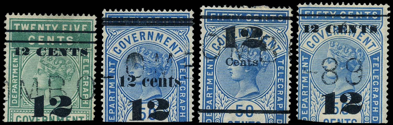 CEYLON 1882  SGT24/7 Telegraph