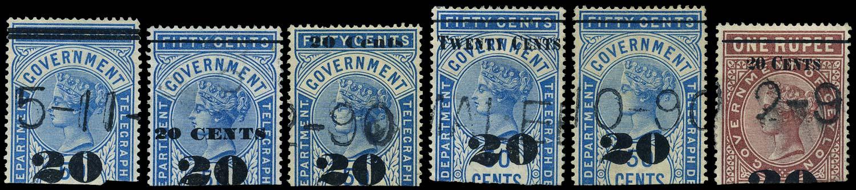 CEYLON 1882  SGT32/7 Telegraph