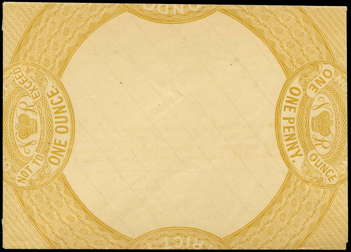 GB 1837  SG. Postal Stationery 1d