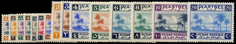 SUDAN 1941  SG81/95 Mint Tuti Island set of 15 to 20p unmounted
