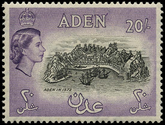 ADEN 1953  SG72a Mint 20s deep black and deep lilac unmounted
