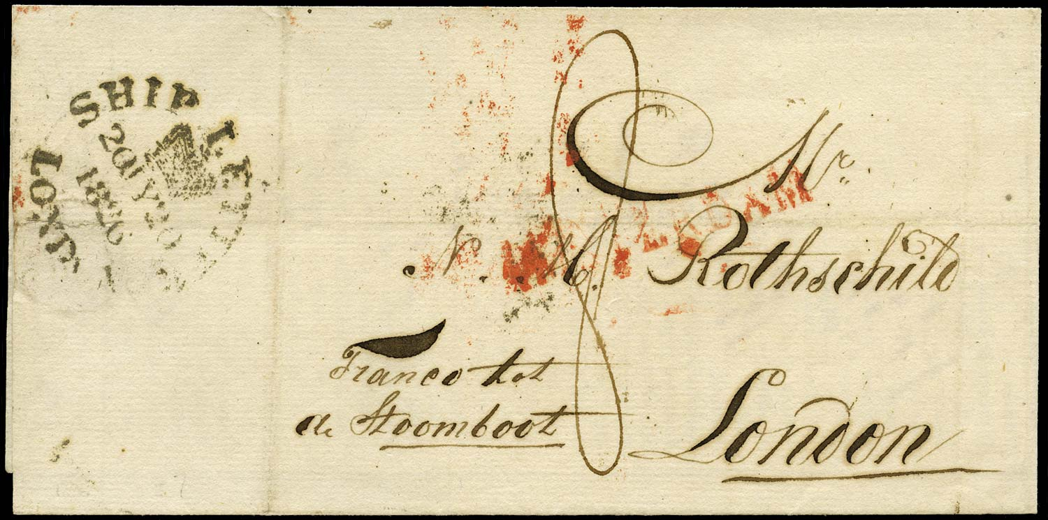 GB 1826 Pre-Stamp Amsterdam to London