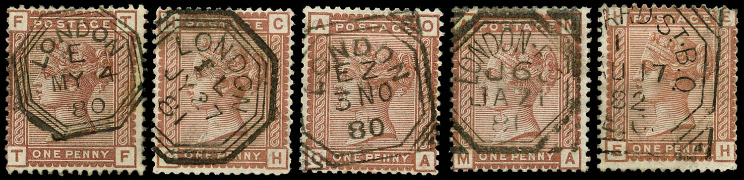 GB 1880  SG166 Used - Fancy geometric cancels