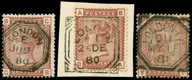 GB 1880  SG166 Used - Fancy geometric cancels
