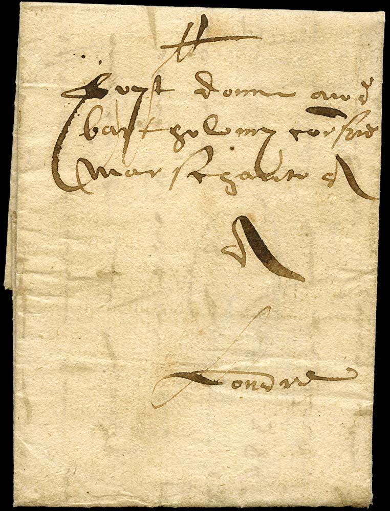 GB 1586 Pre-Stamp Norwich to Corsini London