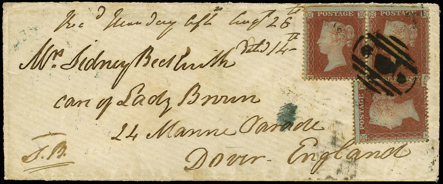 GB 1854 Cover Crimea Crowned numeral