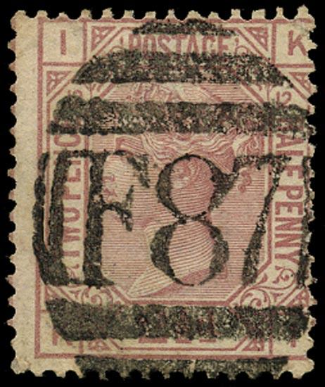 GB 1878  SG141 Pl.12 Used Smyrna