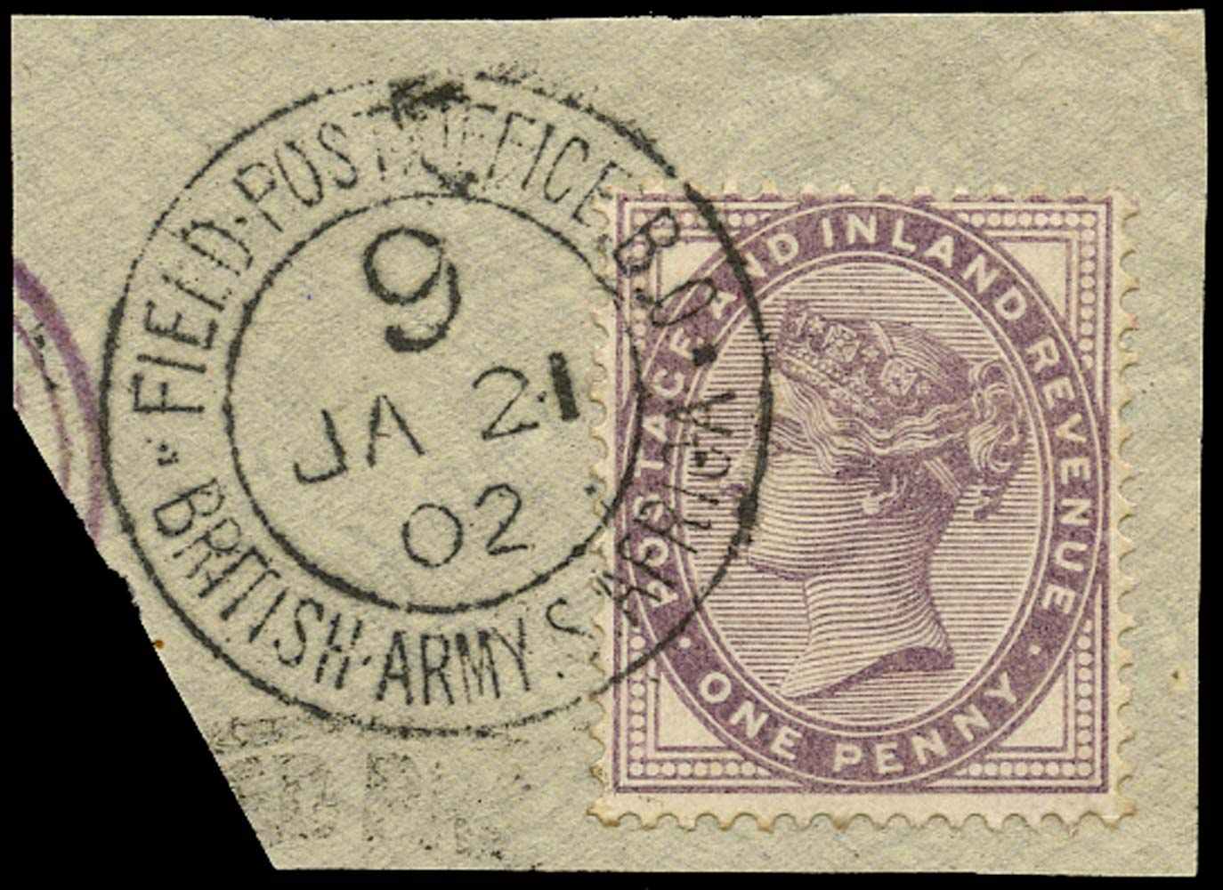 GB 1882  SG172 Used Field Post Office S Africa