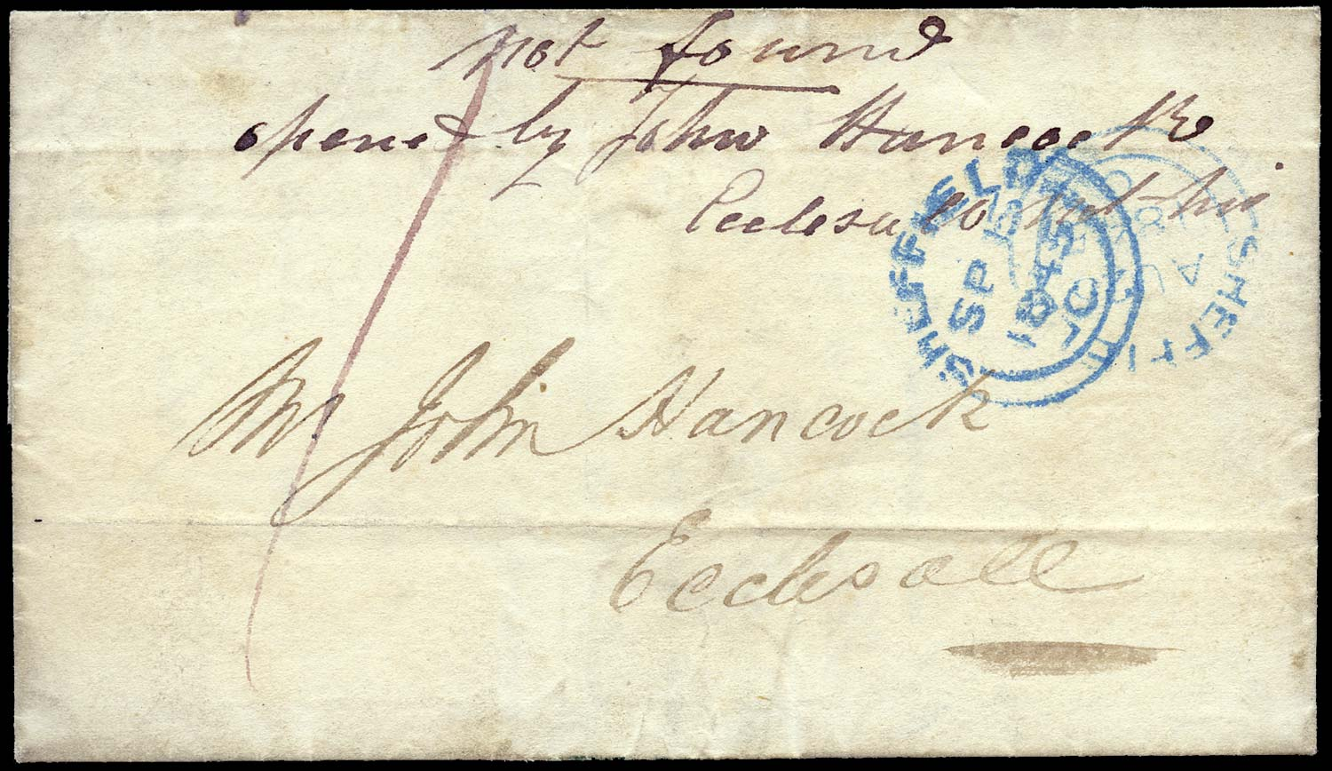 GB 1845 Cover Returned Paid Letter group