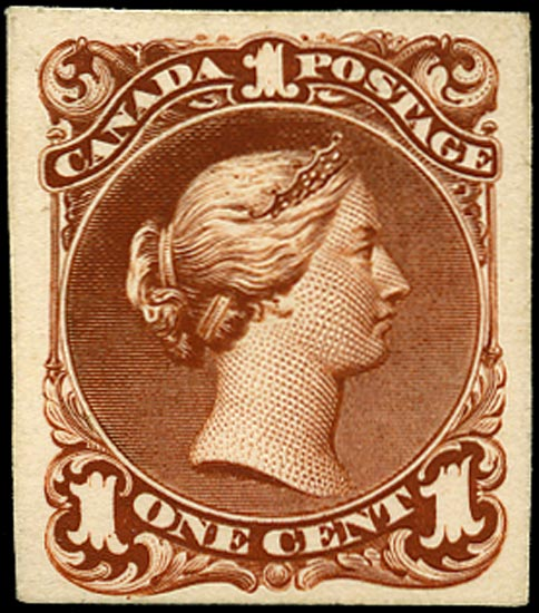 CANADA 1868  SG47 Proof Large Queen 1c red-brown