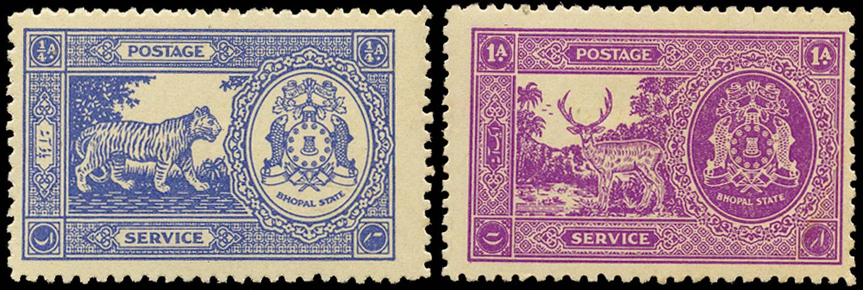 I.F.S. BHOPAL 1940  SGO344/5 Official