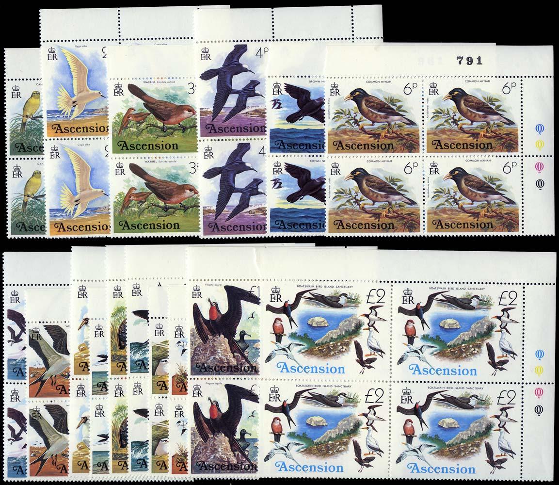 ASCENSION 1976  SG199/214 Mint Birds set of 16 unmounted