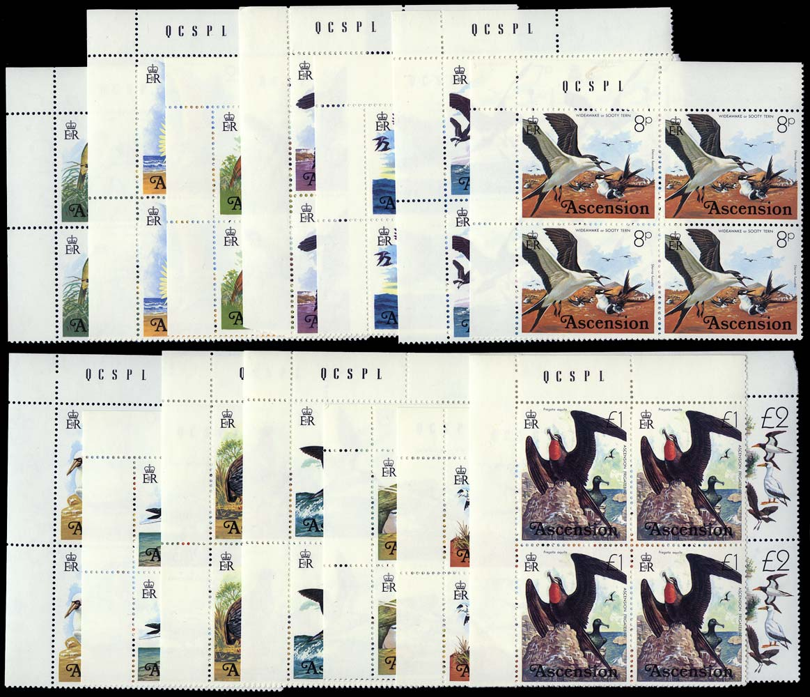 ASCENSION 1976  SG199/214 Mint Birds set of 16 unmounted