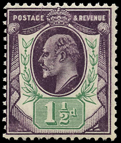 GB 1905  SG224var Mint U/M o.g. example