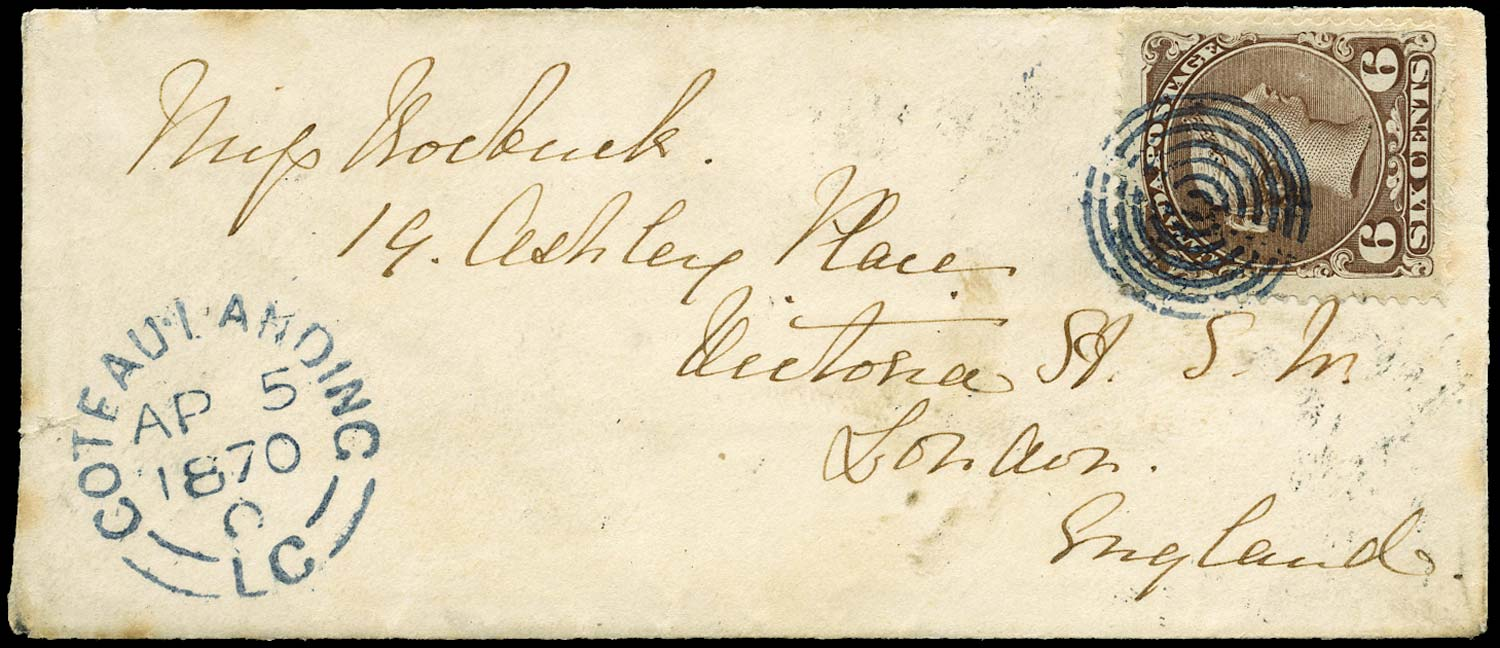 CANADA 1870  SG59 Cover to England at Allan Line rate with 6c Large Queen