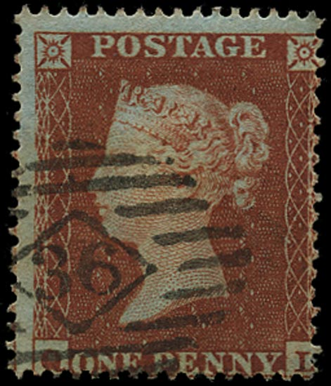 GB 1854  SG17 Pl.192 Used London City numeral