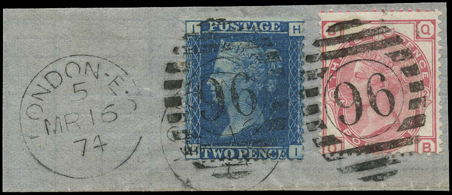 GB 1871  SG46, 143 Used VFU piece