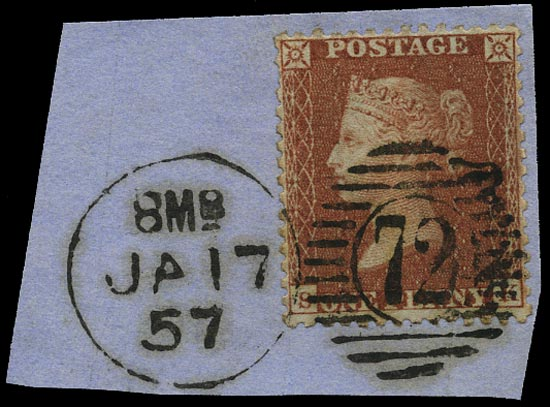GB 1856  SG29 Pl.47 Used London district