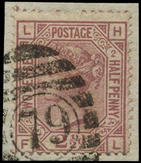 GB 1875  SG140 Pl.2 Used LH-FL error of lettering