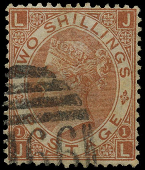 GB 1880  SG121var Pl.1 Forgery Sperati forgery lettered JL