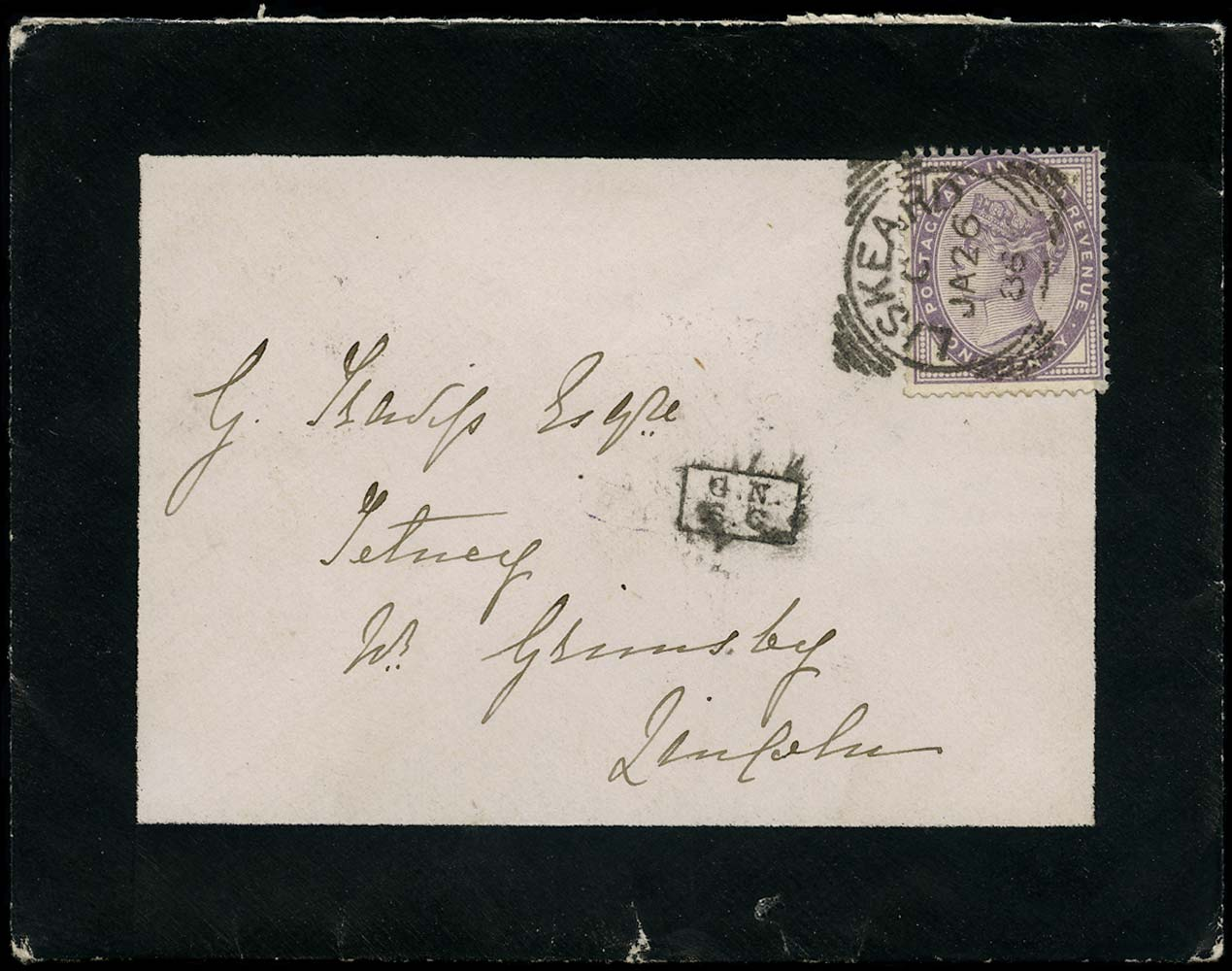 GB 1886  SG172 Cover Great Northern Sorting Carriage