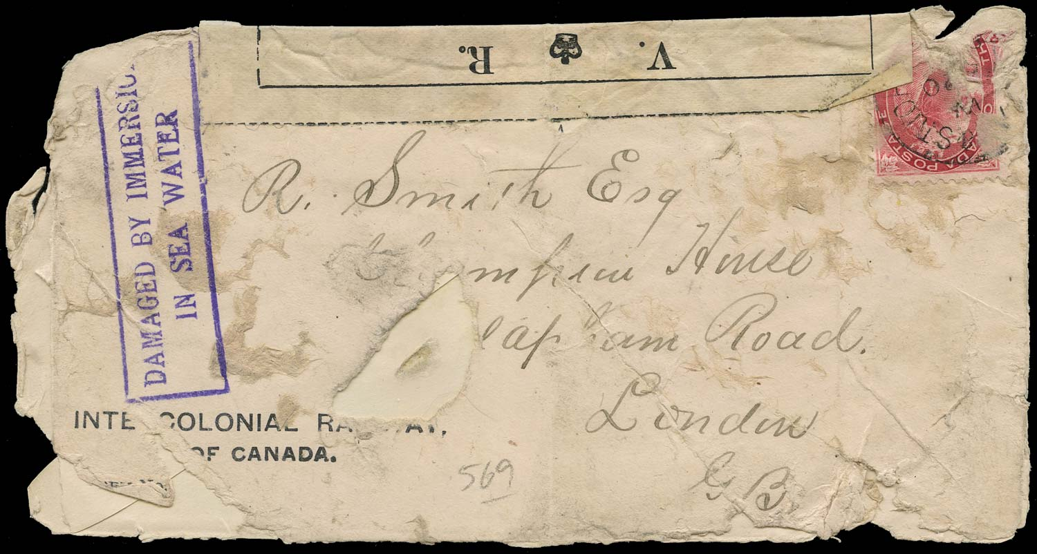 GB 1899 Cover Labrador wreckage mail