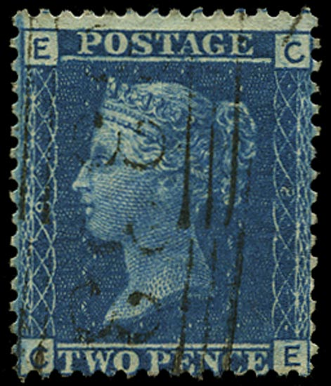 GB 1858  SG45 Pl.8 Used - CE re-entry
