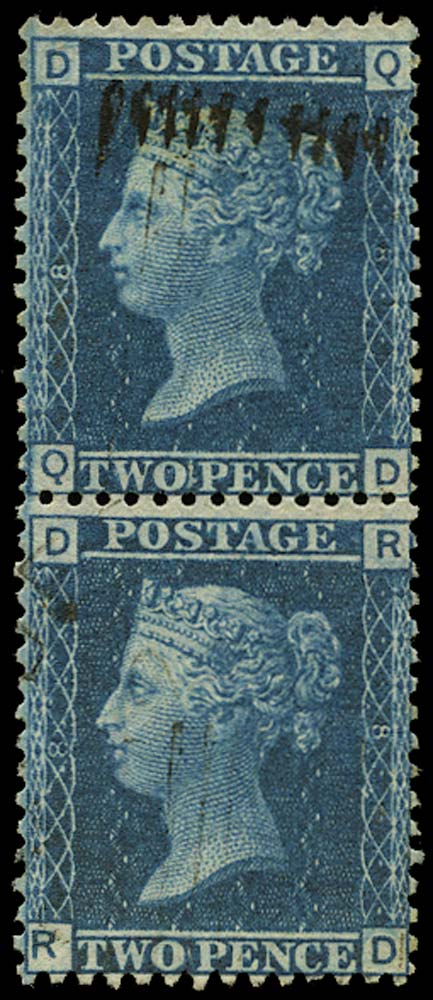 GB 1858  SG45 Pl.8 Used - States 2 and 3
