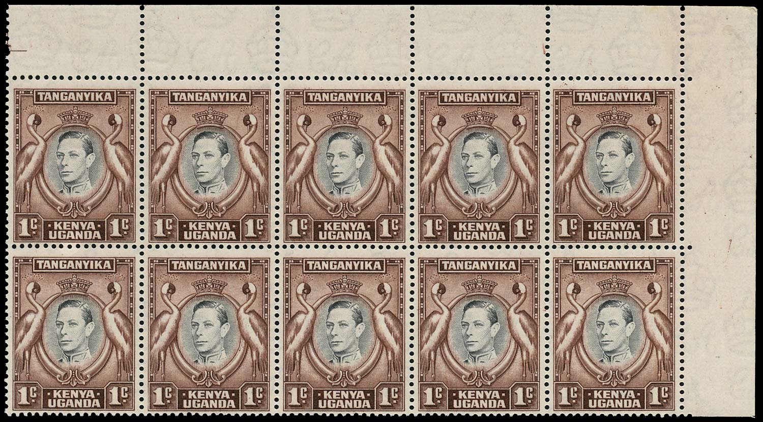 KUT 1939  SG131ab Mint 1c perf 13¼x13½ A of CA missing from wmk unmounted