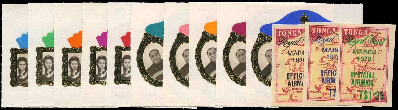 TONGA 1970  SG305/14, O39/41 Mint Royal Visit set of 13 unmounted