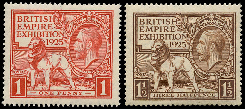 GB 1925  SG432/3 Mint U/M o.g. set of two