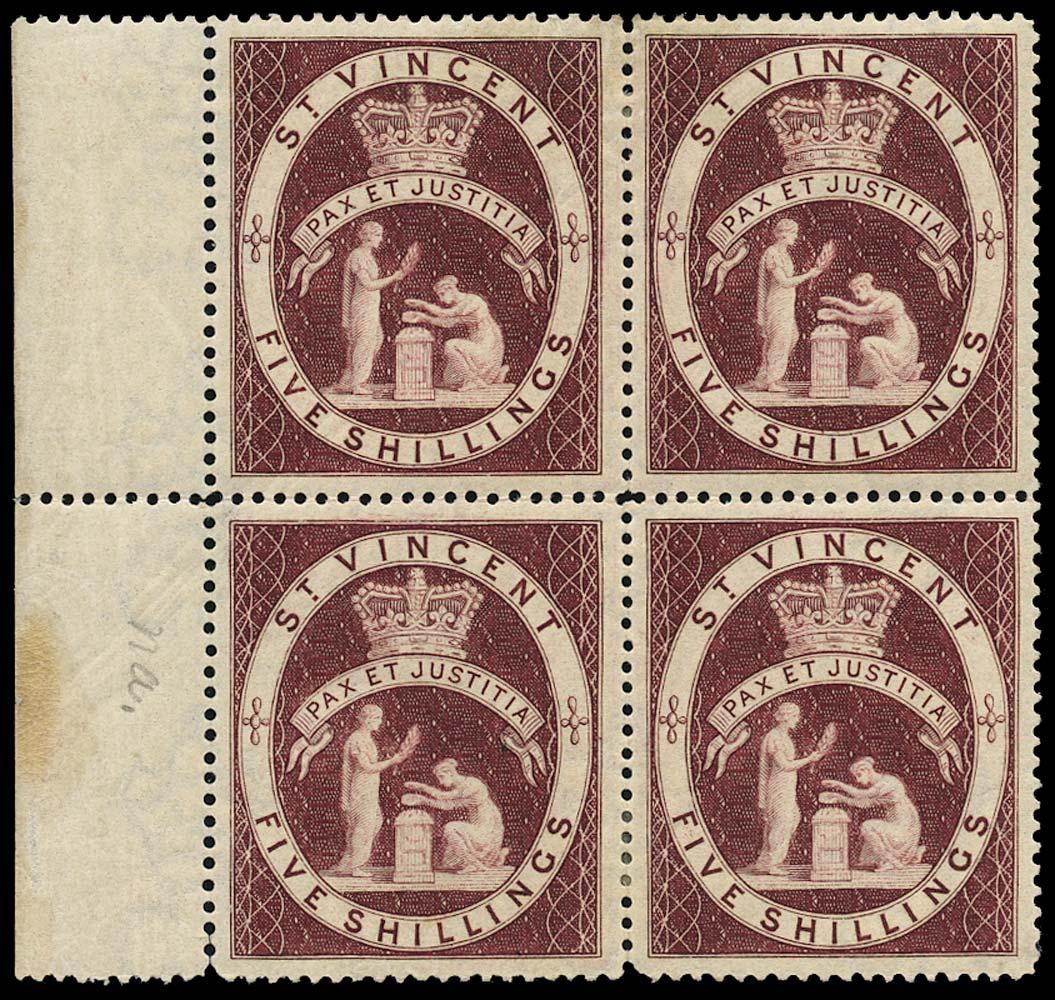 ST VINCENT 1885  SG53b Mint
