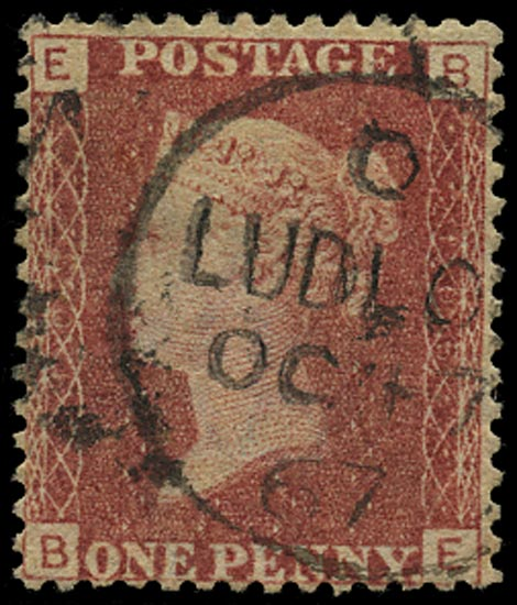 GB 1866  SG43 Pl.103 Used Ludlow cds example