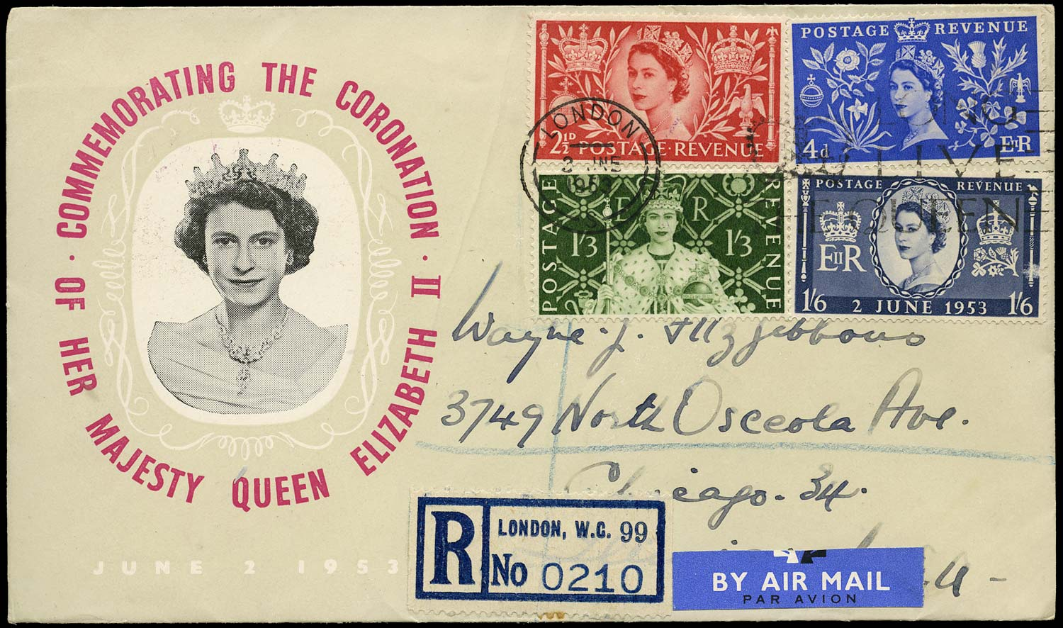 GB 1953  SG532/5 Cover - First day cover
