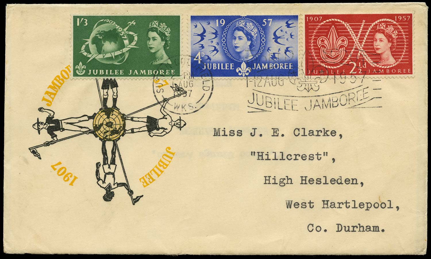 GB 1957  SG557/9 Cover - First day cover