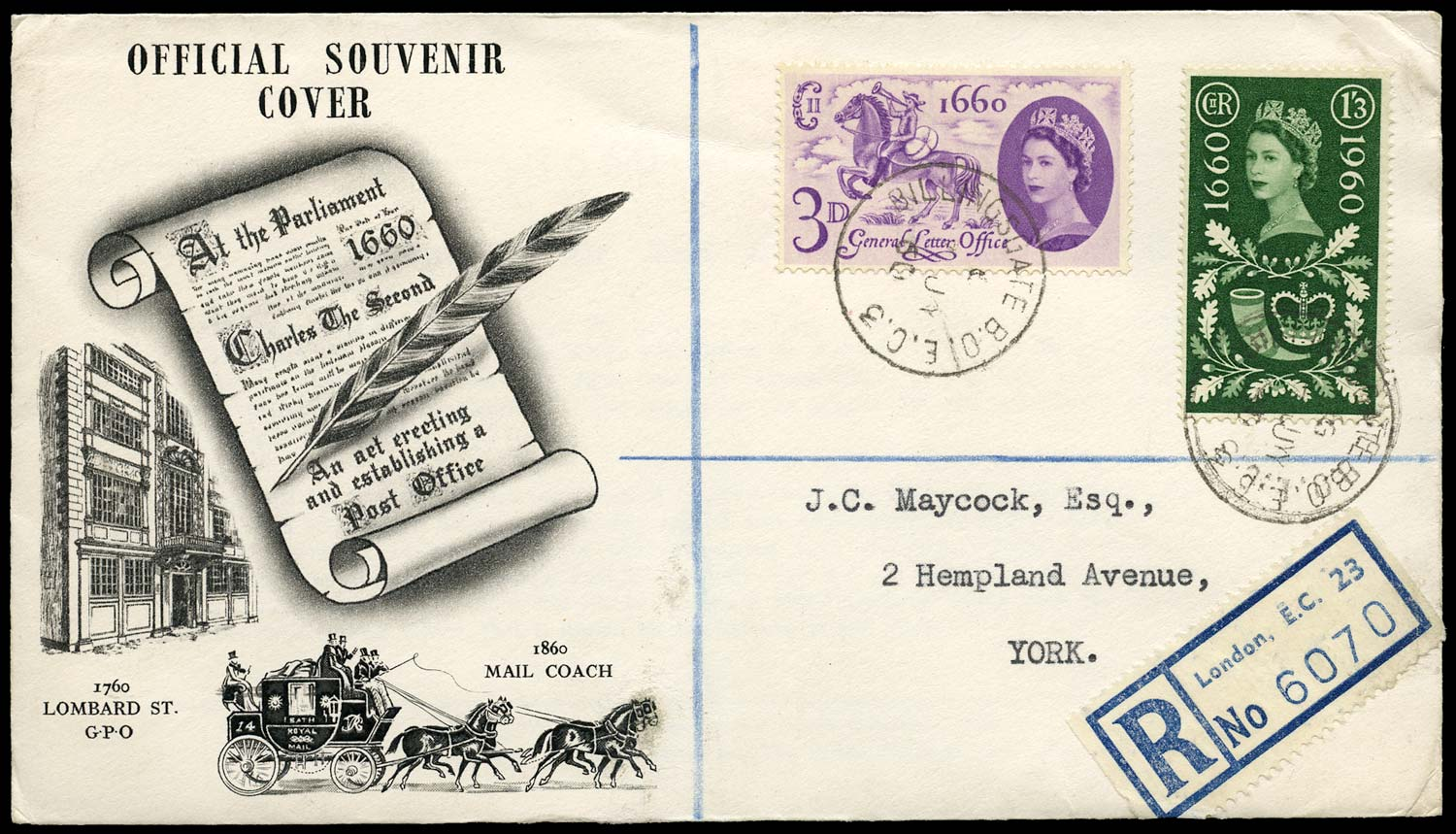 GB 1961  SG629/30 Cover - First day cover