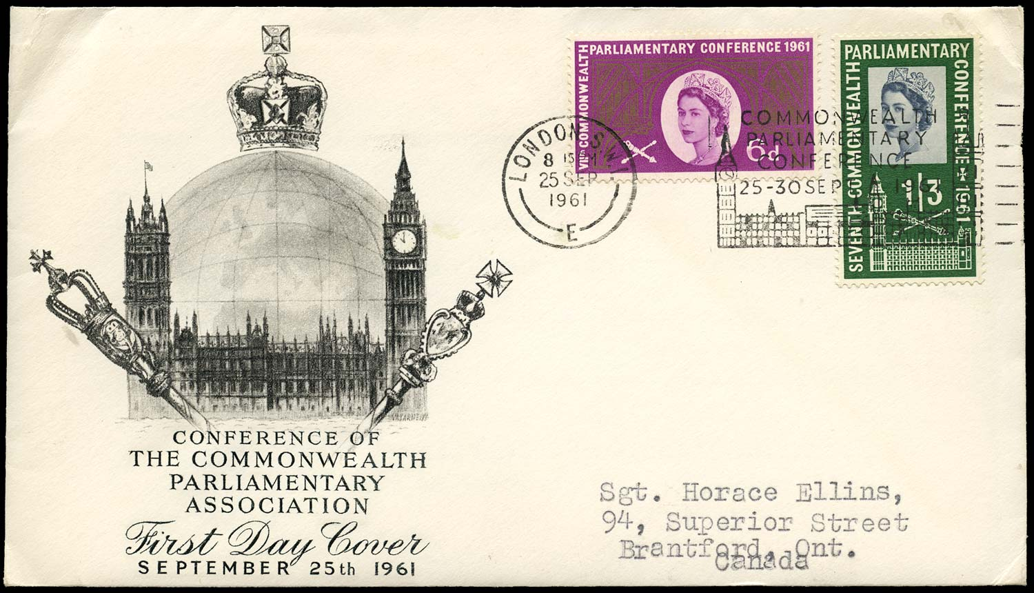 GB 1960  SG629/30 Cover - First day cover