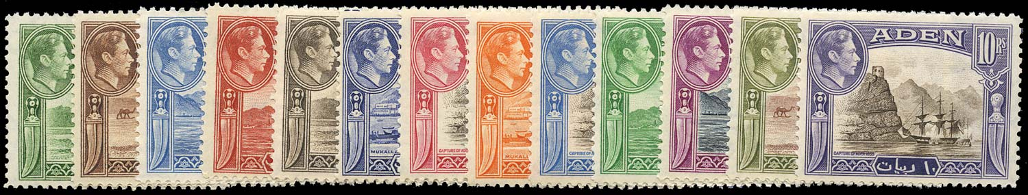 ADEN 1939  SG16/27 Mint KGVI set of 13 to 10r unmounted