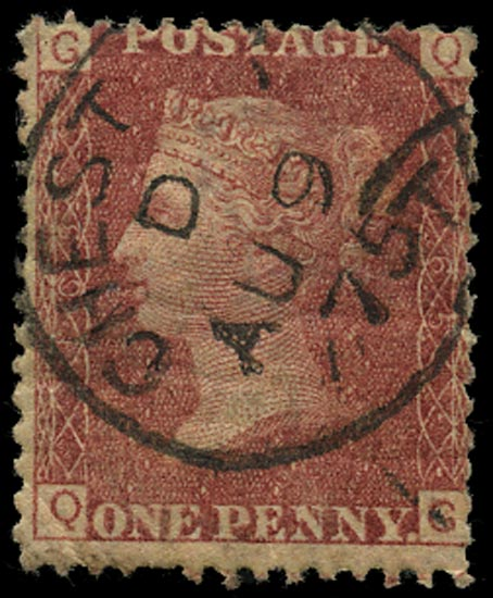 GB 1873  SG43 Pl.165 Used Chester cds