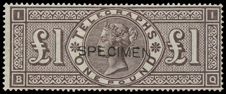 GB 1877  SGT17s Pl.1 Telegraph - SPECIMEN Type 8