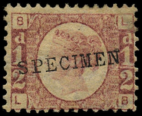 GB 1870  SG48s Pl.10 Specimen - Type 9