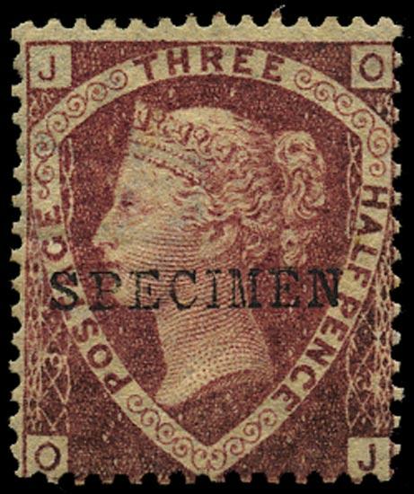GB 1870  SG51sa Pl.3 Specimen - Type 9