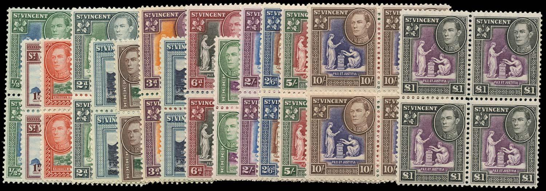 ST VINCENT 1938  SG149/59 Mint