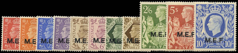 B.O.I.C. - M.E.F. 1943  SGM11/21 Mint KGVI set of 11 to 10s unmounted