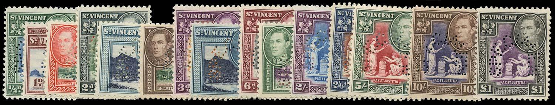 ST VINCENT 1938  SG149s/59s Specimen