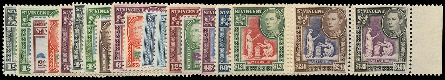 ST VINCENT 1949  SG164/77 Mint