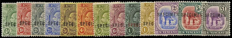 ST VINCENT 1913  SG108s/20s Specimen